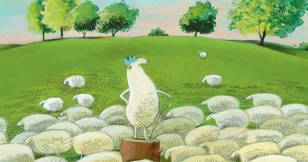 Arte de Olivier Tallec de Luis I, rey de las ovejas