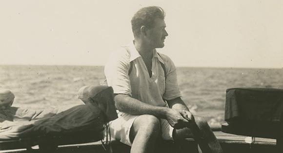 Hemingway en su barco de pesca.