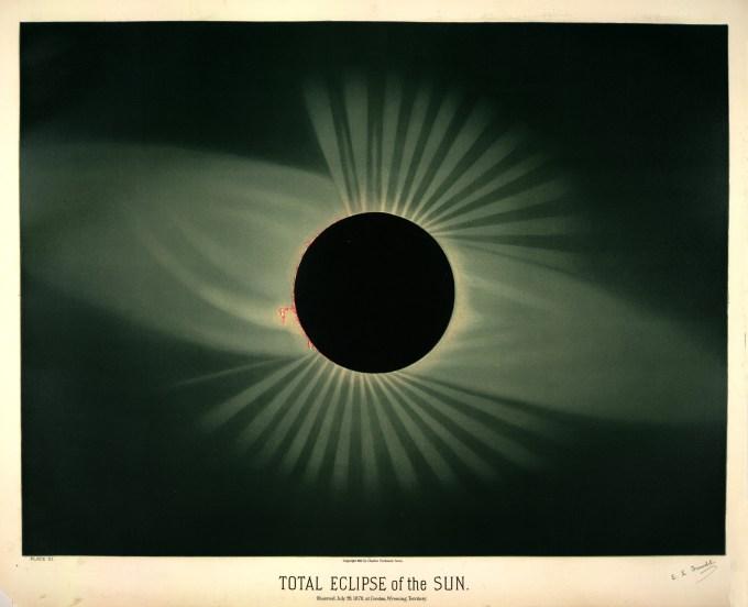 Eclipse total de sol, observado el 29 de julio de 1878, en Creston, Territorio de Wyoming