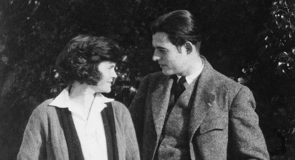 Ernest Hemingway y su esposa Hadley Richardson